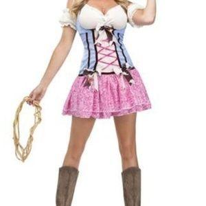Other - Nwot cowgirl costume / petticoat/ bloomer bundle